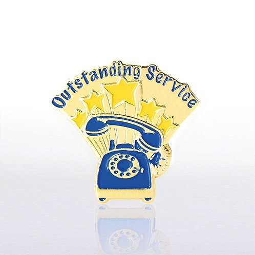 Outstanding Service Phone - Multi Color Lapel Pin