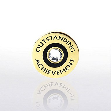 Lapel Pin - Outstanding Achievement w/ Gem