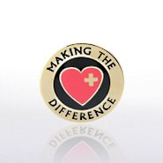 Lapel Pin - Making the Difference w/Heart and Cross