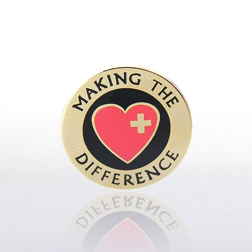 Making the Difference w/Heart and Cross Lapel Pin