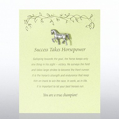 Character Pin - Horse: Success Takes Horsepower