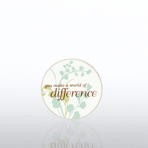 You Make a World of Difference Lapel Pin