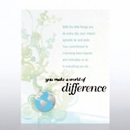 Character Pin - You Make a World of Difference Contemporary