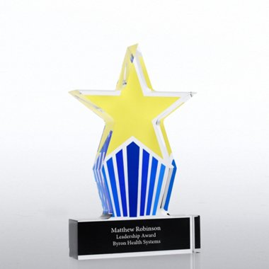 Desktop Acrylic Trophy - Leadership Star