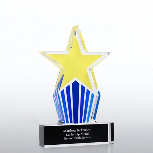 Leadership Star Desktop Acrylic Trophy