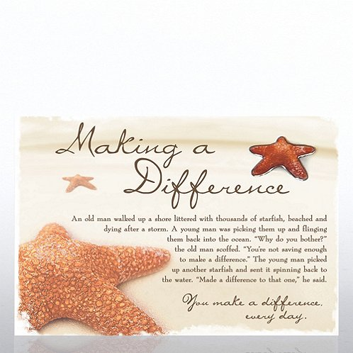 Starfish: Making a Difference Character Pin