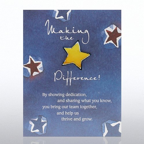 Making the Difference Character Pin