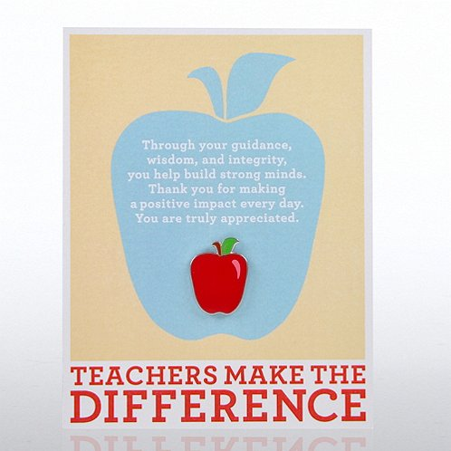 Teachers Make the Difference Character Pin