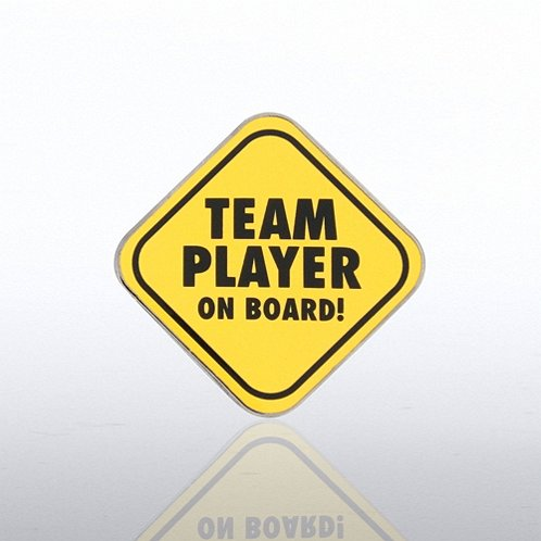 Team Player on Board! Lapel Pin