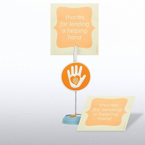 Helping Hand Memo Clip & Sticky Note Gift Set