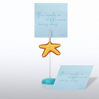 Memo Clip & Sticky Note Gift Set - Starfish