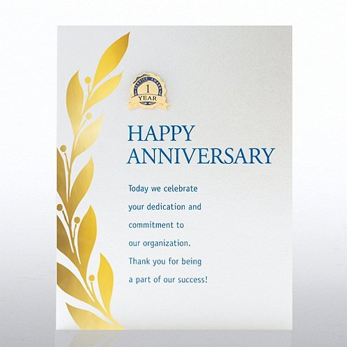 Happy Anniversary Character Pin
