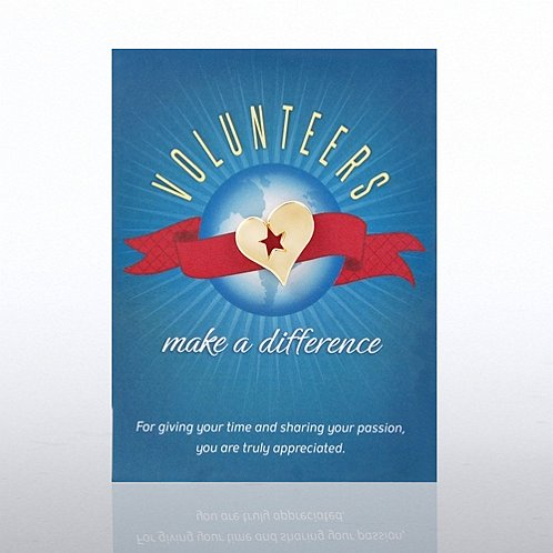Volunteers Make a Difference Character Pin