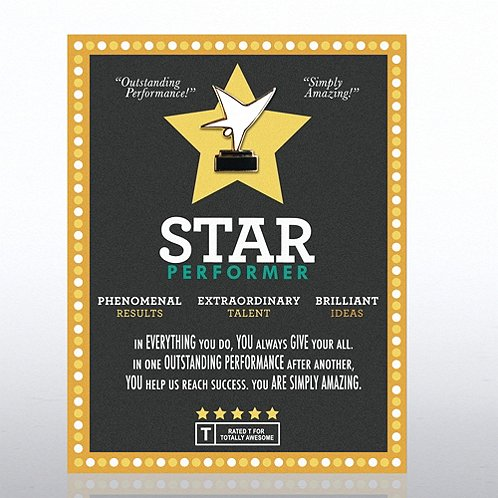 Star Performer Character Pin