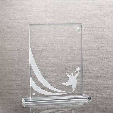 Etched Glass Award - Team Player