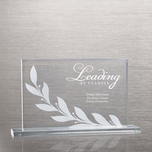 Laurel Etched Glass Award