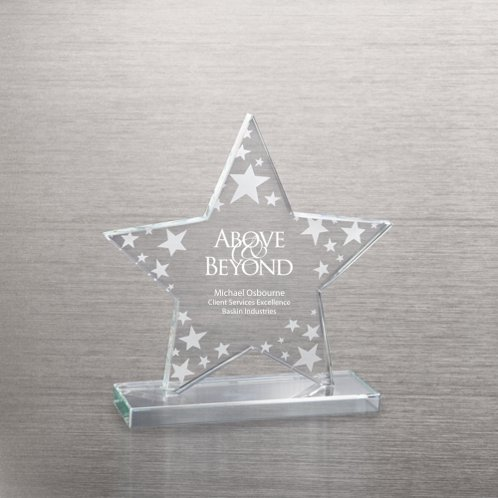 Star Cluster Etched Glass Award