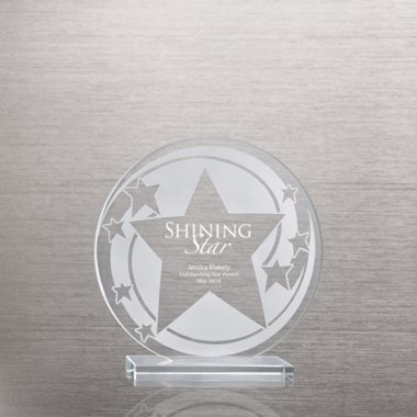 Etched Glass Award - Star Swirl