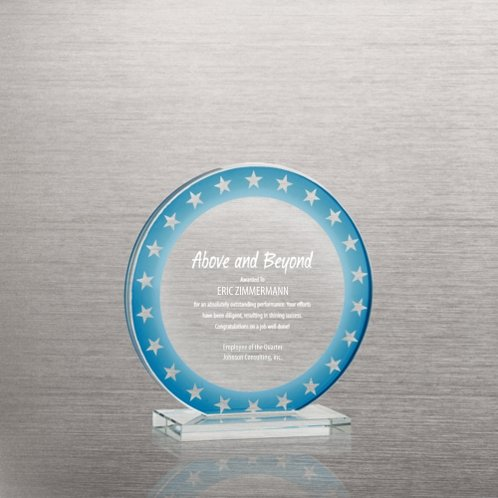 Round Stars Brilliant Colored Glass Award