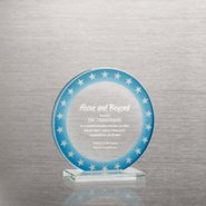 Brilliant Colored Glass Award - Round Stars