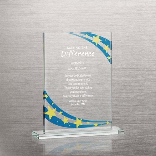 Starry Night Brilliant Colored Glass Award