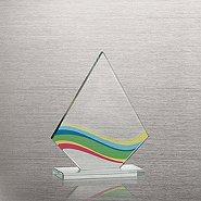 Brilliant Colored Glass Award - Diamond Wave