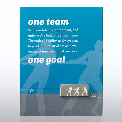 One Team, One Goal Character Pin
