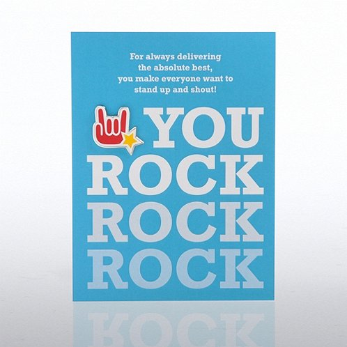 You Rock Character Pin