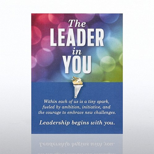 Leadership Begins with You Character Pin