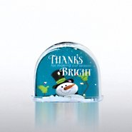 Snow Globe Photo Frame - Snowman: Season Bright