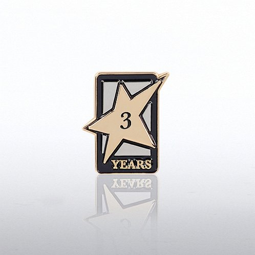 3 Years Dedicated Service Milestone Pin with Keepsake Box
