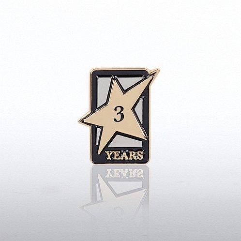 3 Years Dedicated Service Milestone Pin with Keepsake Box