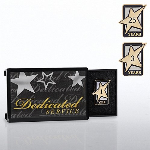 Dedicated Service Milestone Pin with Keepsake Box