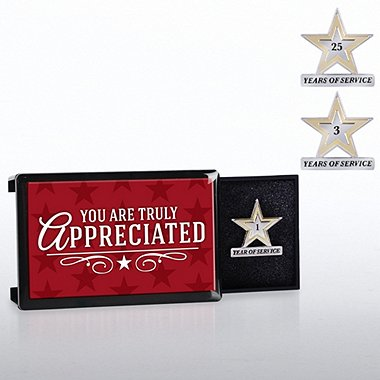 Milestone Pin with Keepsake Box - You Are Truly Appreciated
