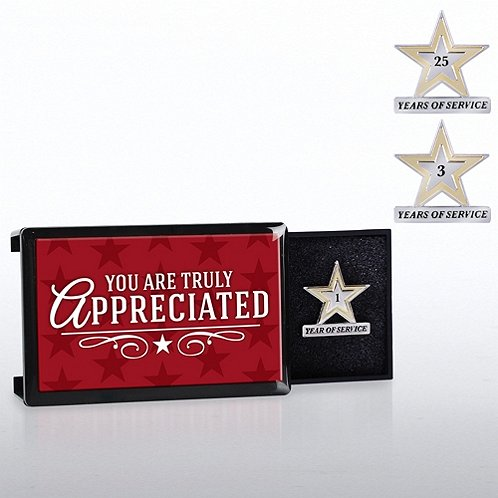You Are Truly Appreciated Milestone Pin with Keepsake Box