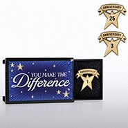 Milestone Anniversary Lapel Pin - You Make the Difference