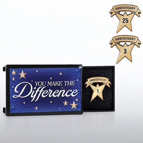 You Make the Difference Milestone Pin with Keepsake Box