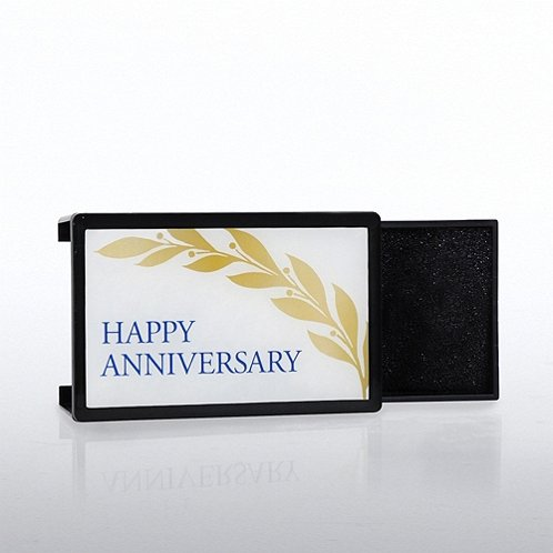 Happy Anniversary Lapel Pin Presentation Box