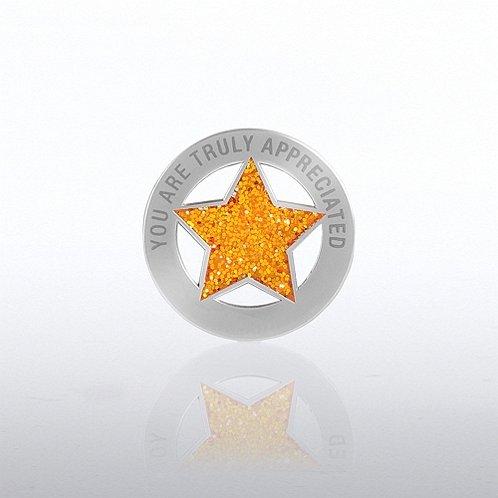 You Are Truly Appreciated Glitter Lapel Pin