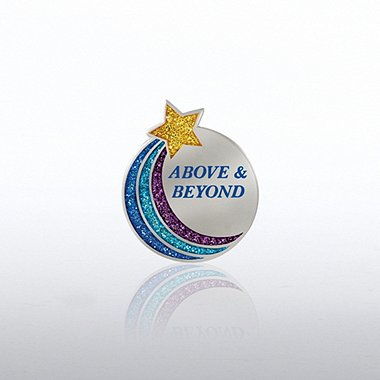 Glitter Lapel Pin - Above & Beyond Star