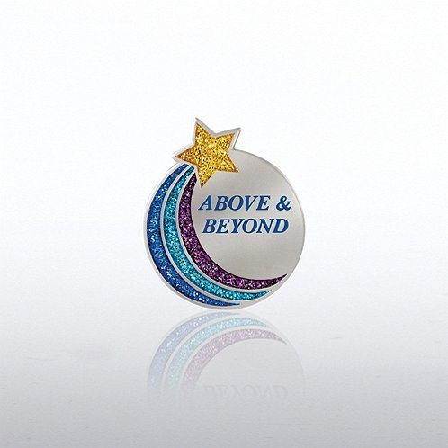 Above & Beyond Star Glitter Lapel Pin
