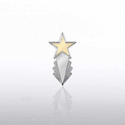 Deco Star Lapel Pin