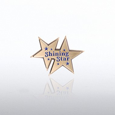 Lapel Pin - Double Shining Star