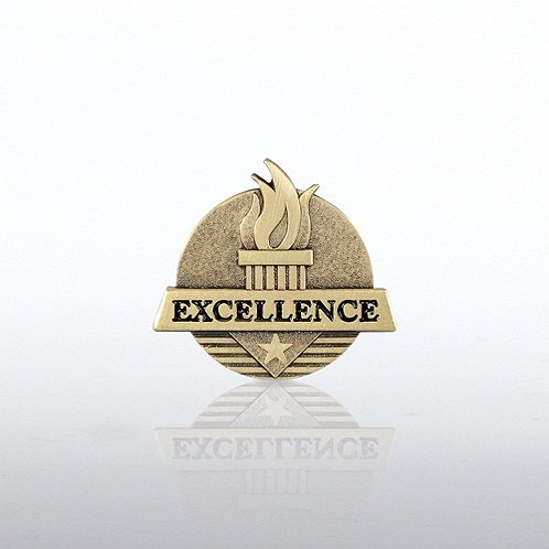Excellence Flame Lapel Pin