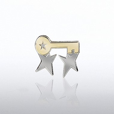 Lapel Pin - Team Guys with Key