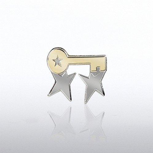 Team Guys with Key Lapel Pin