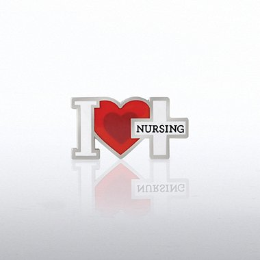 Lapel Pin - I Heart Nursing