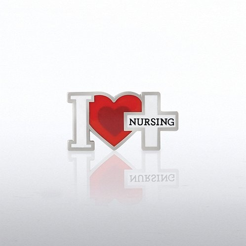 I Heart Nursing Lapel Pin