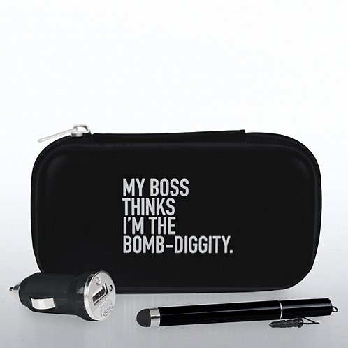 My Boss Thinks I'm the Bomb Diggity Technology Gift Set