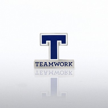 Lapel Pin - Letter Teamwork